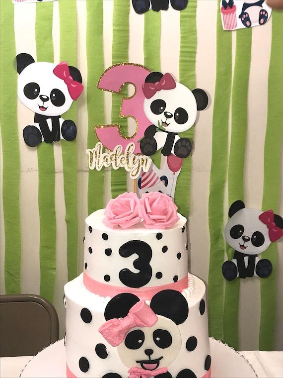 Fine Panda Bear Cake Topper Birthday Cake Topper Panda Girl Cake Etsy Funny Birthday Cards Online Inifofree Goldxyz