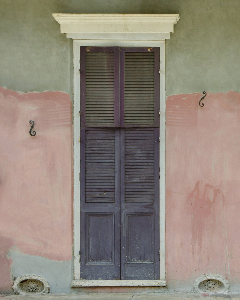 French Quarter Old Door New Orleans texture weathered decor