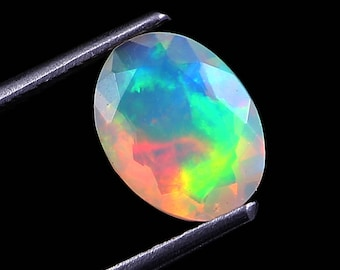 3.00Carat Natural Ethiopian Black Opal Cabochon Loose Gemstone Oval 12.3X9.5MM AAA Quality Opal jewelry making Calibrated /& Ring Size Opal