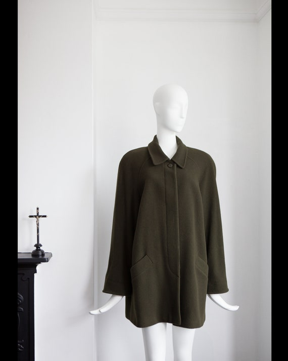 Vintage Green cape style wool coat