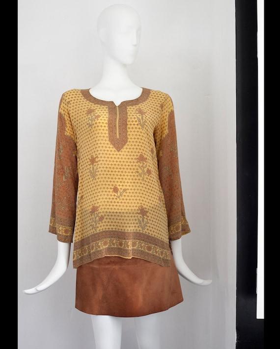 Biba silk blouse  | Vintage top | Relics On Sea