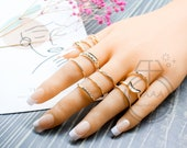 12 Piece Gold Ring Set Retro Ring Set Minimalist Ring Bohemian Rings for Women Anniversary Ring Gift for Her Vintage Ring Set