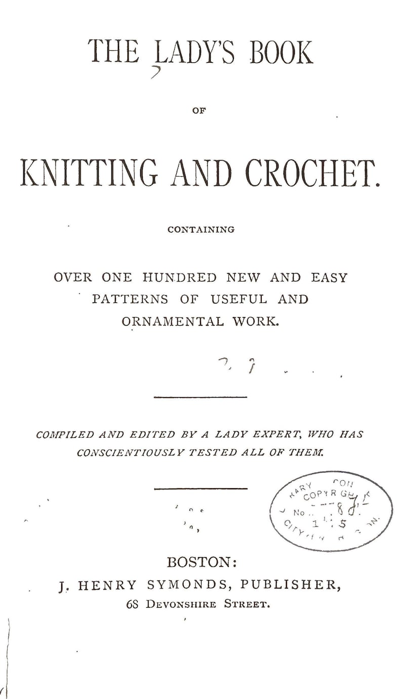 Lady/'s Book of Knitting and Crochet 1875