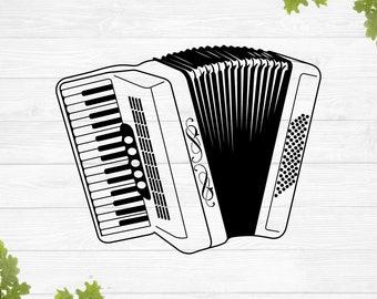 SVG, air accordion svg, accordion svg, music svg, musical instrument svg, vinyl stencil, png eps dxf jpg, cricut silhouette, cameo svg