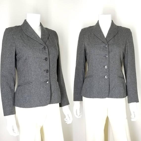 Vintage 40s Gray Wool Blazer ~ Womens Small ~ Vict