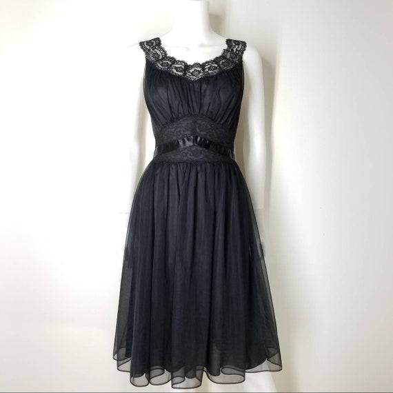 Vintage 60s Black Nightgown & Peignoir Lingerie S… - image 10