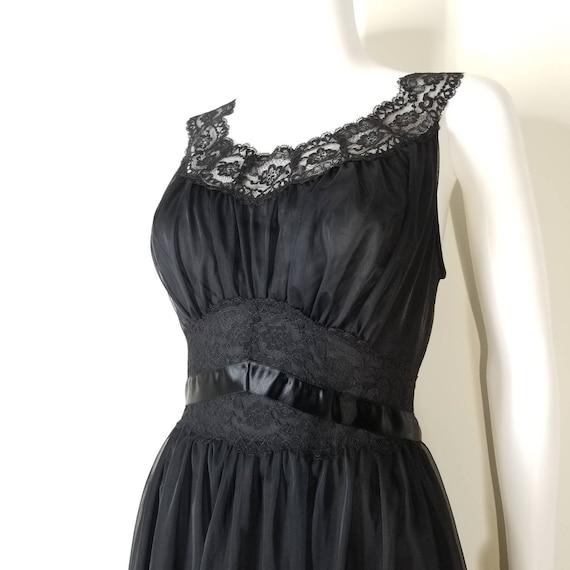 Vintage 60s Black Nightgown & Peignoir Lingerie S… - image 7