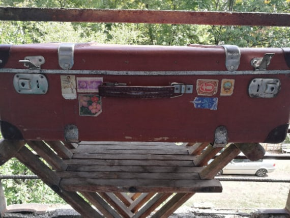 Vintage suitcase Journey suitcase Retro suitcase T
