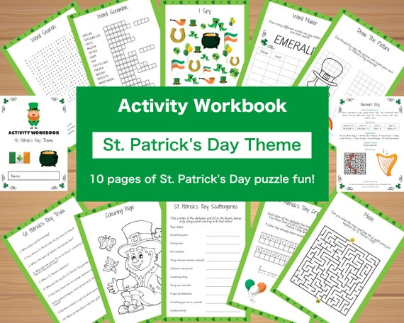 Kids Activity Book  St. Patrick's Day Theme