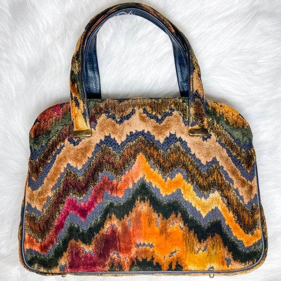 Vintage carpet tapestry bag - image 2