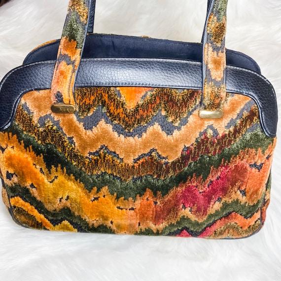 Vintage carpet tapestry bag - image 4