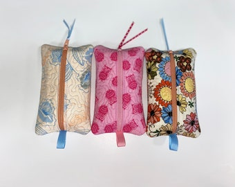 One-of-a-Kind Gift for Her Quilted Zipper Pouch