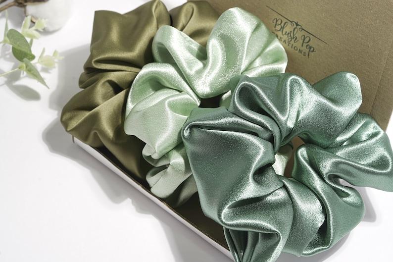 Scrunchie Hair Tie  Soft Satin Scrunchie  Elastic Hair Tie image 0
