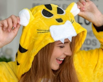 Disney Tigger Tiger Adult Romper Fleece Anime Pyjamas Costume Cosplay