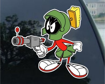 Looney Tunes Marvin The Martian Helmet Iron On 3 1//2 Inch Tall Patch
