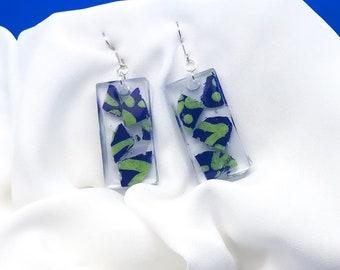 Neutrals ombre resin earrings