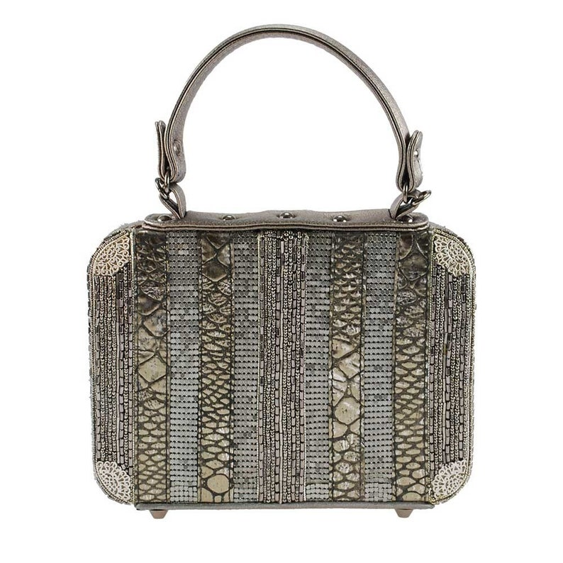 Mary Frances Mile High Embellished Travel Theme Top-Handle Handbag New With Tags