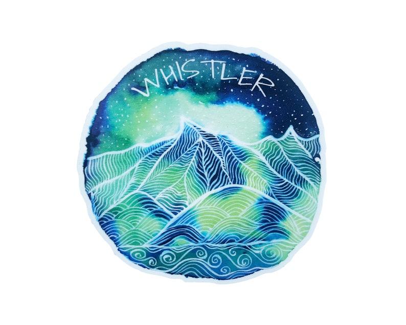 Whistler Sticker waterproof high quality uv resistant Mountain sticker Vinyl Sticker