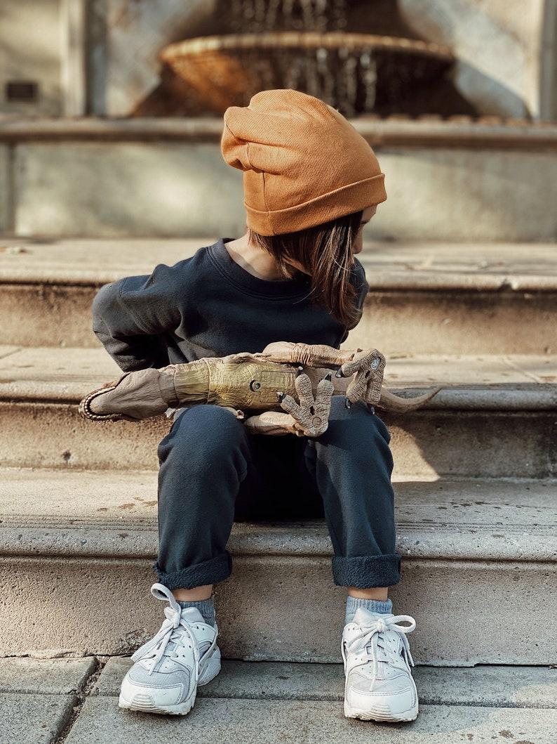Handmade kids clothes Organic Cotton Lounge Set minimalist