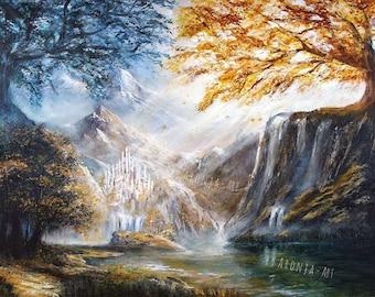 The Trees Of Valinor - Print