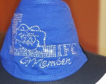Life Member ΖΦΒ Mask | Royal Blue  |  All Diamond Rhinestone
