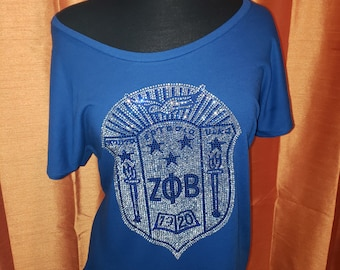 Zeta Phi Beta Reverse Shield Short Sleeve Dolman Top