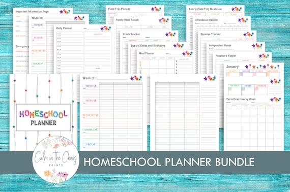 Homeschool Planner Bundle  Home School Teacher Planner