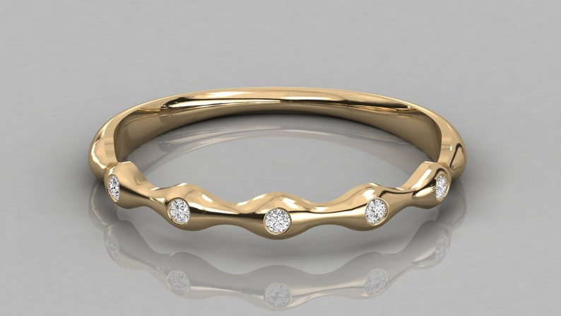 Five Stone Ring Stackable Ring Anniversary Ring Diamond Band Birthday Gift Promise Ring 14K Gold Diamond Ring Wedding Band