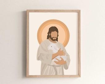 The Lost Lamb Rendition- Jesus Print