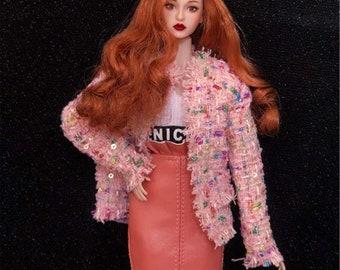 No.27 Oyster pink BJD 1//3 multi dress wrap for BJD//SD doll  iplehouse SID EID