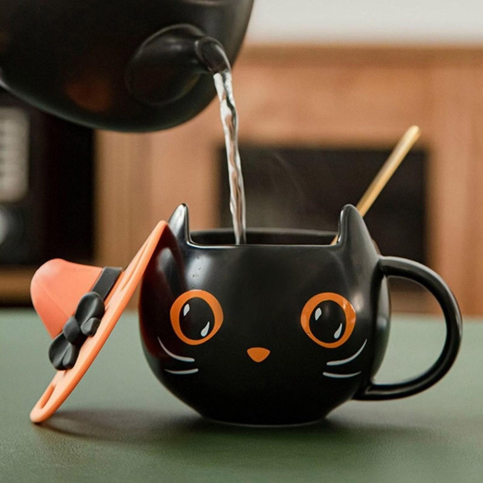 Halloween Cat With Hat Ceramic Mug