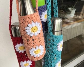 Shoulder bag, bottle holder, festival bottle carrier, gift idea