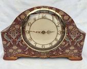 Clock Mantle William Morris Vintage Seasons Birds Bespoke Upcycled