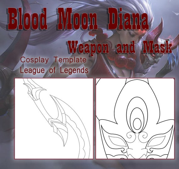 Blood Moon Diana Weapon And Mask Cosplay Template League Of Etsy Rocket league branded dlc will be added to your epic games account regardless of where it was purchased, and will also be accessible on all linked platforms. etsy