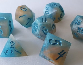 Sweet Candy handmade Dungeons and Dragons Dice 7pc Set