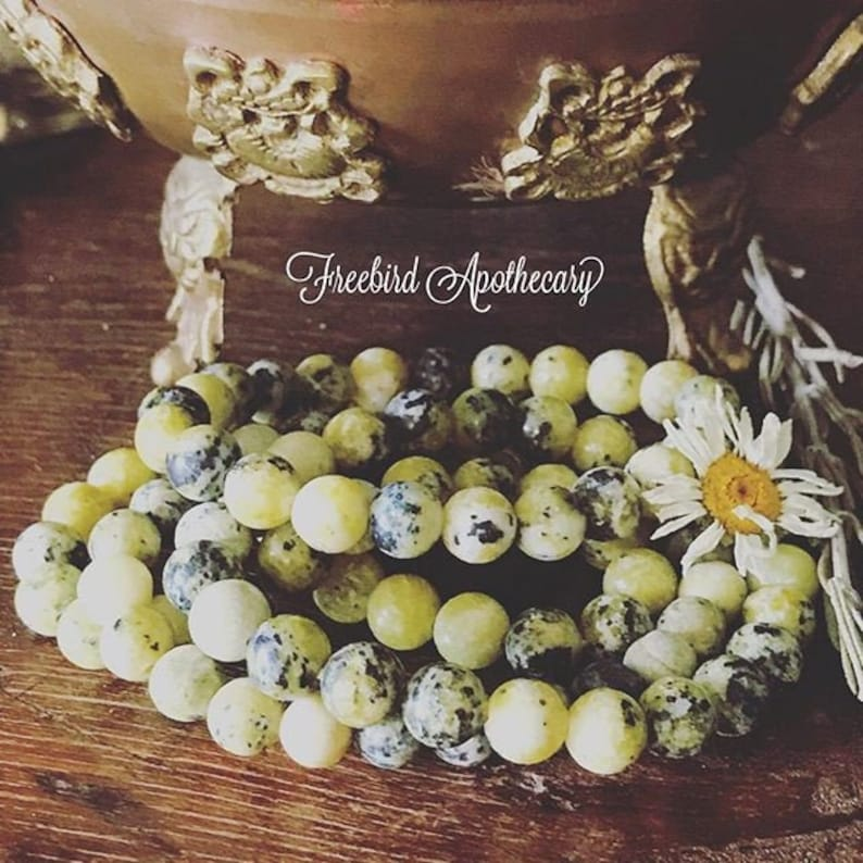 Serpentine Crystal Bracelet Healing Jewelry