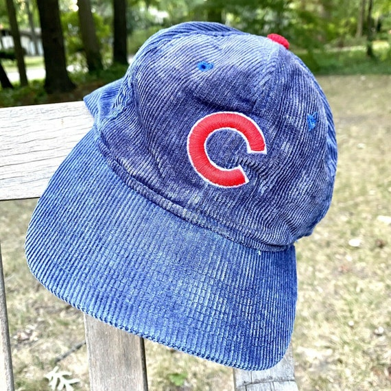 Vintage Chicago Cubs Corduroy Baseball Hat Cap Sna