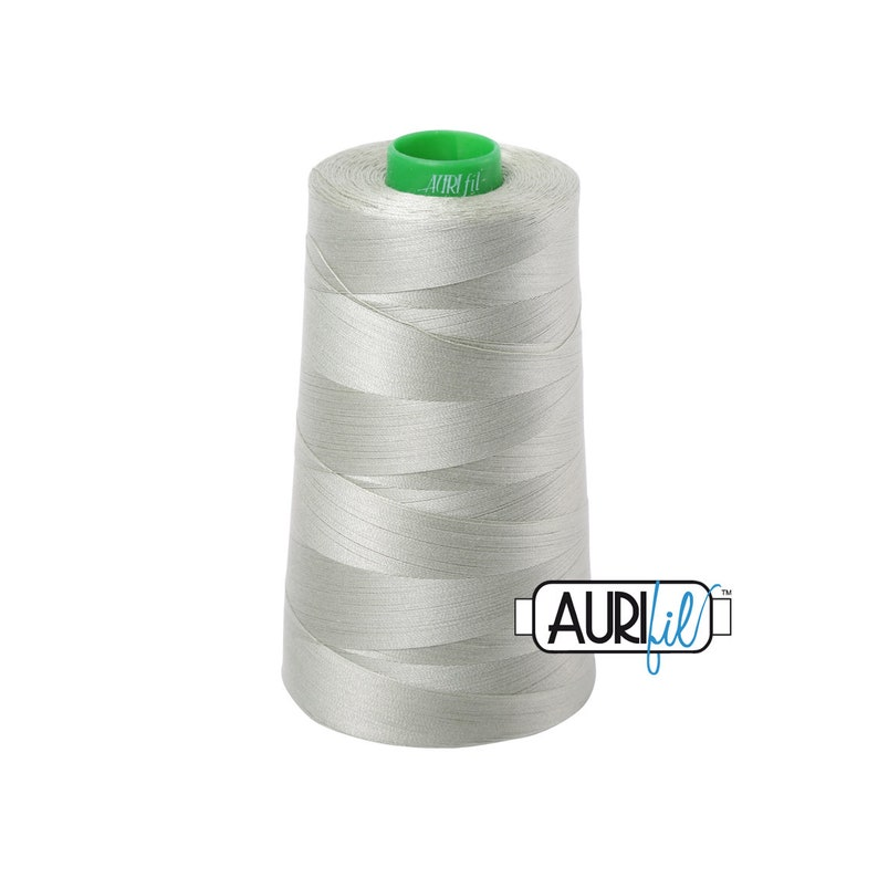 - 40wt Cone Light Laurel Green Aurifil Thread 2902