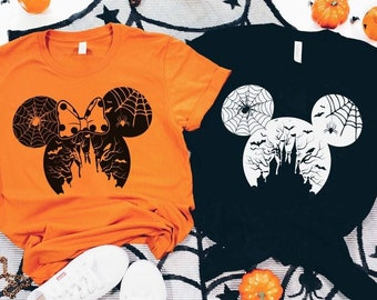 Disney Halloween, Disney Halloween Shirt, Halloween Disney Ears Shirt, Halloween Mickey Shirt, Halloween Couple Gifts, Halloween Family Tee