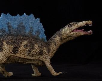 Spinosaurus (light green), hand painted prehistoric model