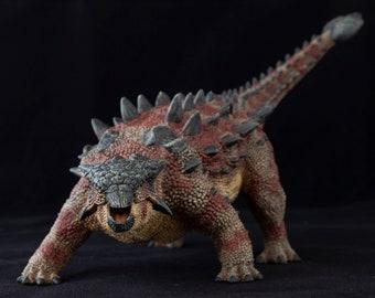 Ankylosaurus, hand painted dinosaur model