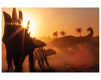 Stegosaurus dinosaur print