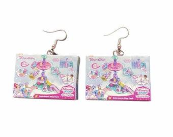 Miniature Teenie Genie Box Earrings