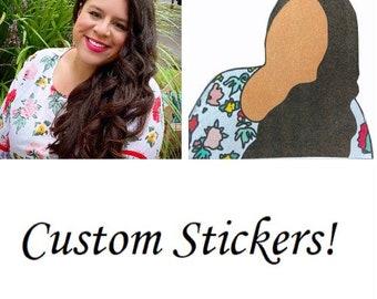 Custom Portrait Stickers (2-pack)
