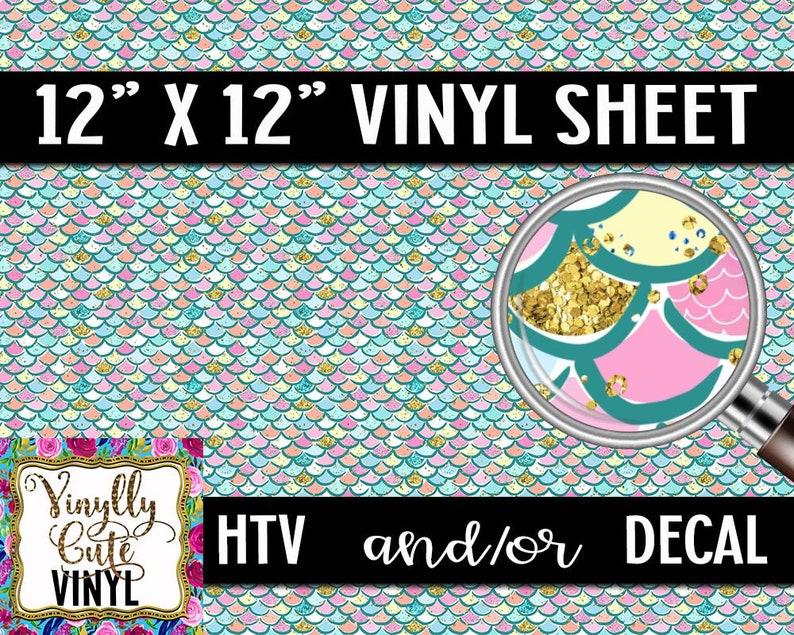 Mermazing Vinyl Sheet ~ HTV or DECAL ~ 12 x 12 ~ Single Sheets ~ Siser HTV ~ Mermaid ~ Dragon ~ Vinyl Roll