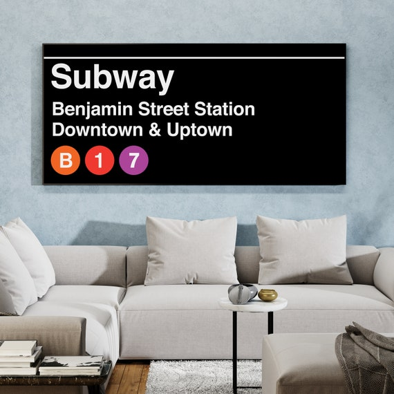 Custom Subway Sign