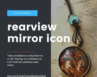 St George Car Icon/ Icon Rear View Mirror Pendant/ Orthodox Icon/ Icon Pendant/Orthodox /Warrior Saint