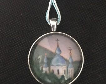 Car Icon/ Rear View Mirror Charm / Orthodox Russian Church/ Icon Pendant/ Mother's Day/ Orthodox Church/Russian Church