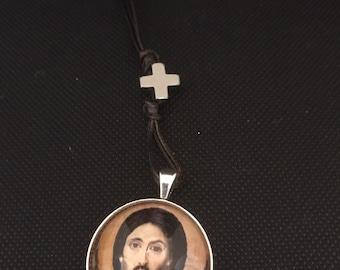 Car Icon/ Icon Rear View Mirror Pendant/ Orthodox Icon/ Icon Pendant/ Jesus Mt Sinai/ Orthodox / Jesus Christ.