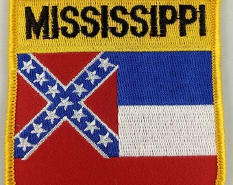 MISSISSIPPI MS US State USA Shield Country Flag Embroidered PATCH Badge P1